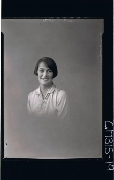 H/S Portrait of woman 'McGuire'