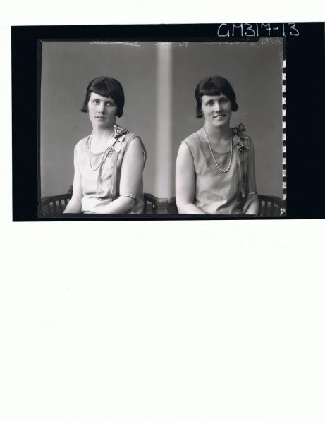 Two 1/2 Portraits of woman seated; 'Oldfield'