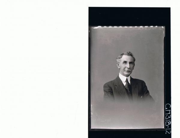 H/S Portrait of man with moustache wearing three piece suit 'Spargo'