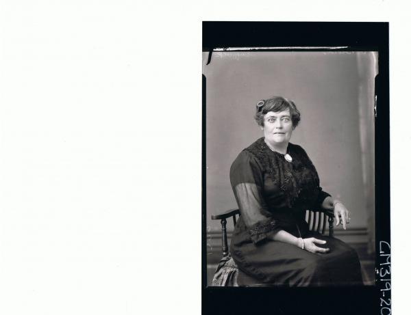 3/4 Portrait of elderly lady seated wearing lace dress 'Suffolk'