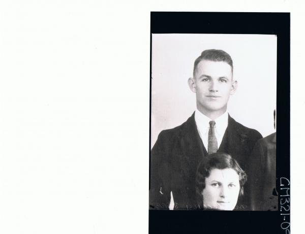 1/2 Portrait of man wearing three piece suit, woman's head, man's shoulder (copy) 'Mitchell'