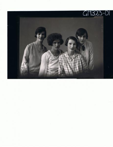 1/2 Portrait of four teenage girls; 'Scott'
