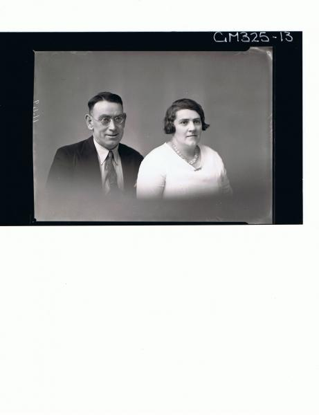 H/S Portrait of woman and man with spectacles; 'Locke'