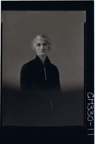 1/2 Portrait of elderley woman wearing day dress (Passports); 'Mathews'