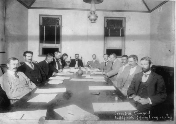 Copy of Executive Council Goldfields Reform League.