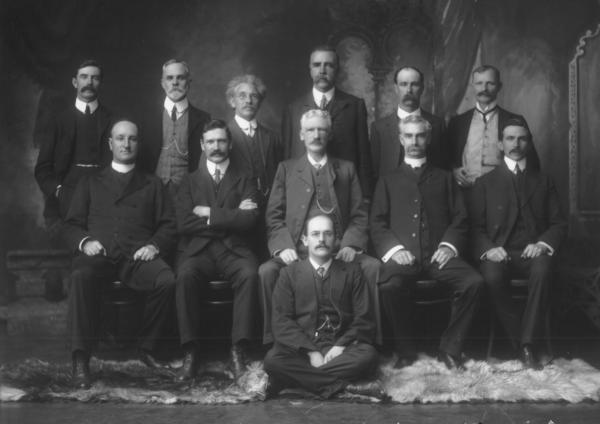 F/L portrait of group of (12) men, Mechanics Institute Committee.