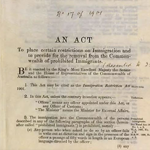 Immigration Act of 1901 Video