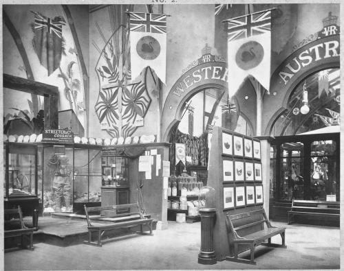 Mining display in a museum B/W.