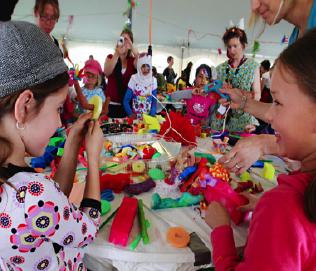 Kids and people having fun