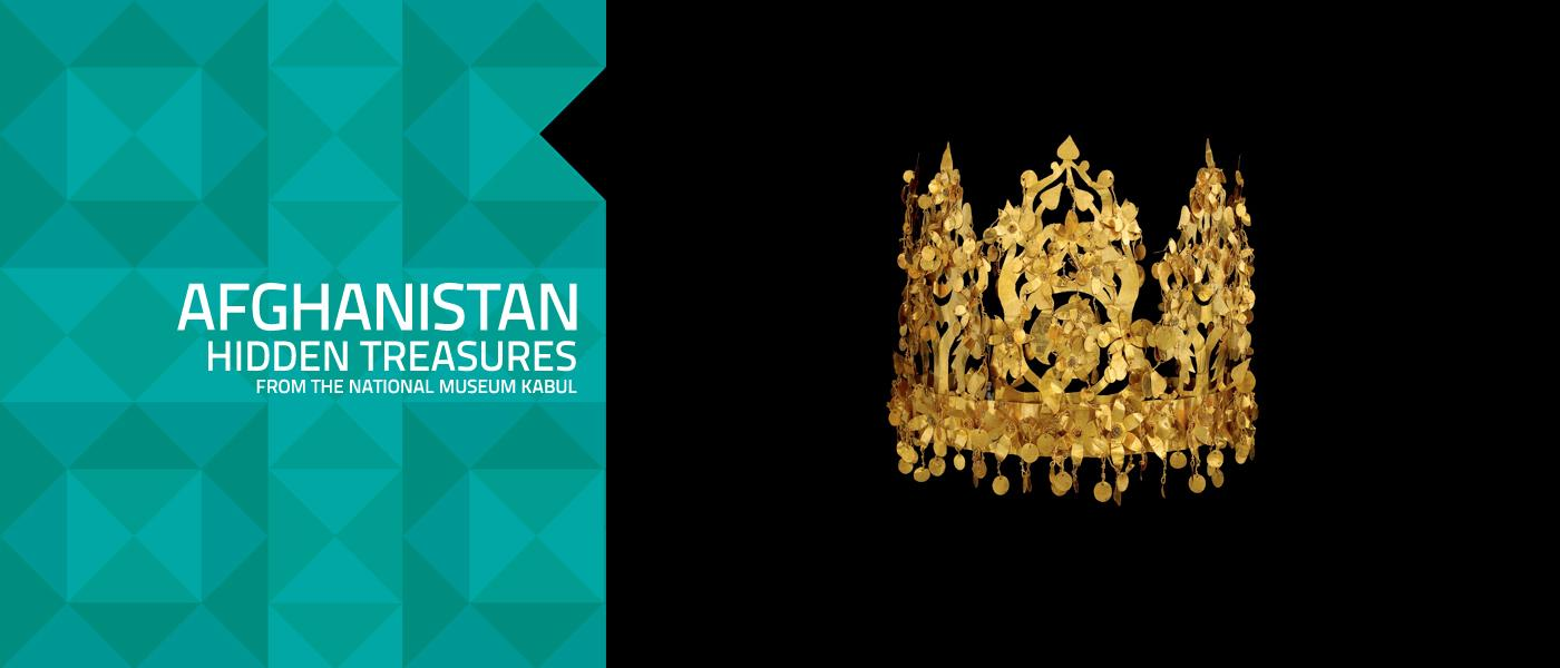 Golden Crown on display in the Afghanistan exhibition