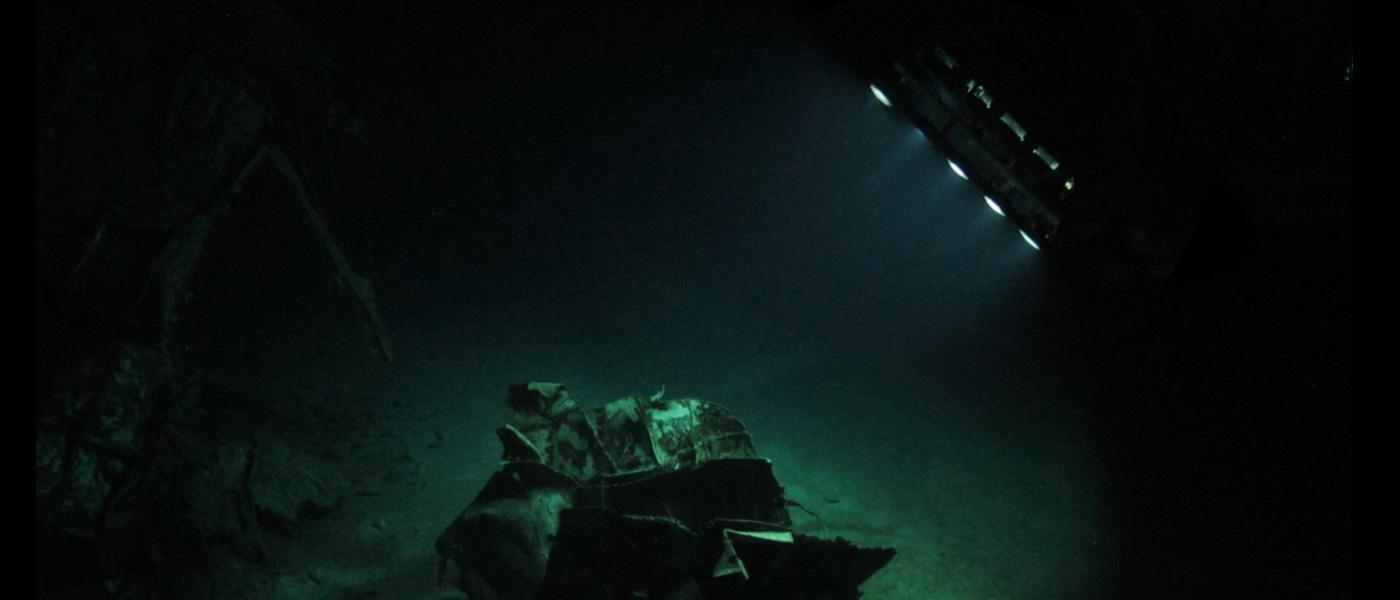 ROV surveying wreck