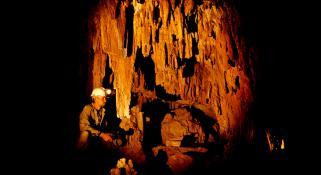 A cave scene