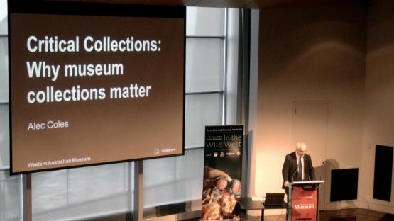 Alec Coles giving a lecture in the Maritime Museum