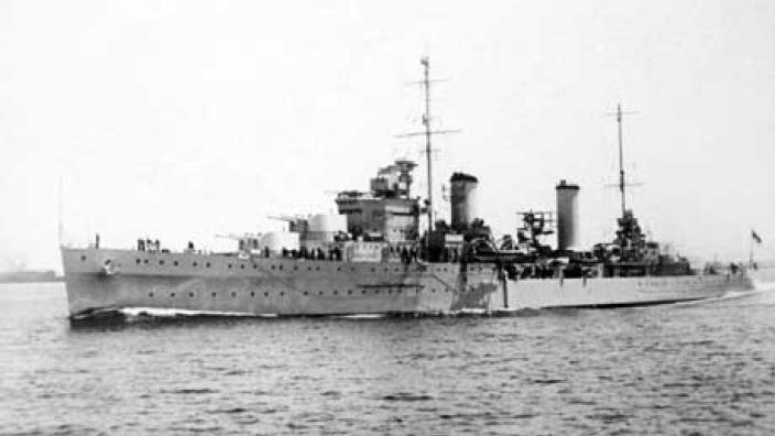 Historic photo of HMAS Sydney (II) prior to its sinking