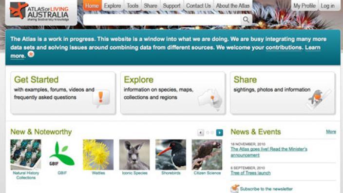 Screen grab of the ALA homepage