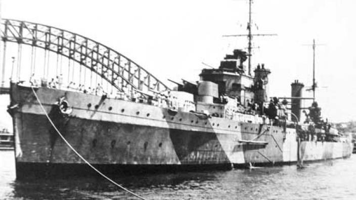 HMAS Sydney (II) docked in Sydney Harbour