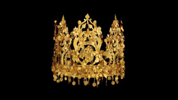 CROWN, TILLYA TEPE. GOLD. 1ST CENTURY BC – 1ST CENTURY AD