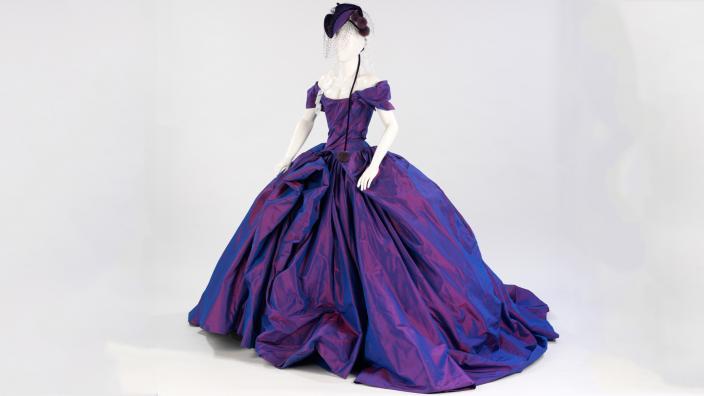 Shot taffeta wedding dress which was worn by Dita Von Teese