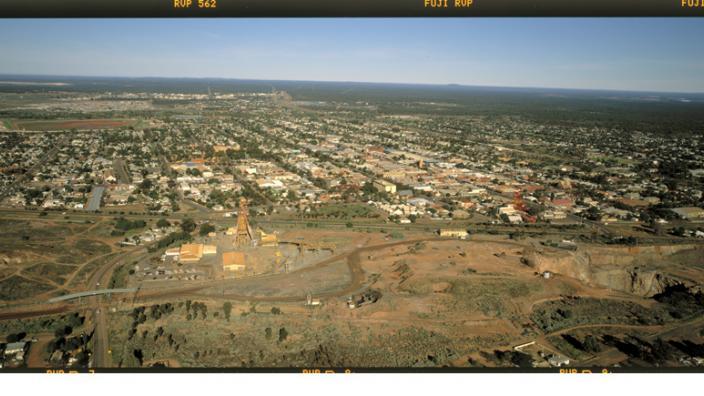 Image showing a aerial panorama of Kalgoorlie, c2001.