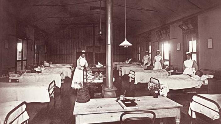 Main ward at Government Hospital, c.1900-1910