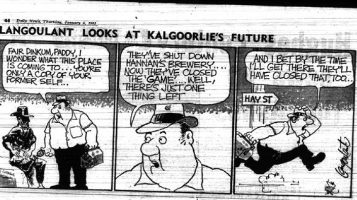 Article titled Langoulant Looks at Kalgoorlie's Future