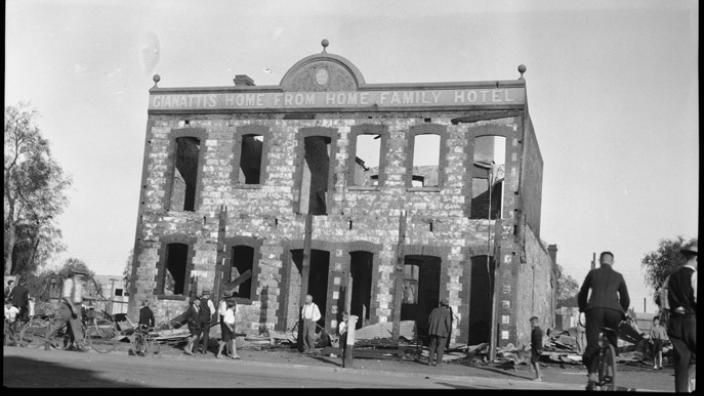 Damage to the Home from Home Hotel, 1934