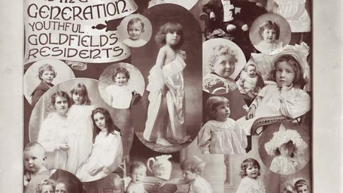Romantic images of goldfields' children, 1903.