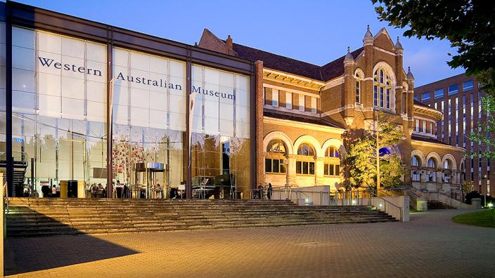 Western Australian Museum - Perth frontage at night