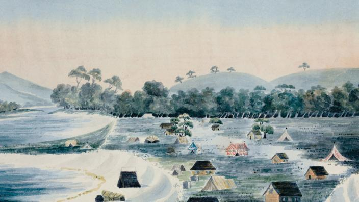 Swan River Colony by Mary Ann Friend, 1830. Courtesy of State Library of WA.