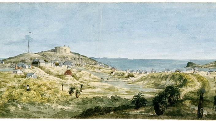 Fremantle Panorama. By Eliza Jane Currie ,1832. Courtesy of State Library of WA