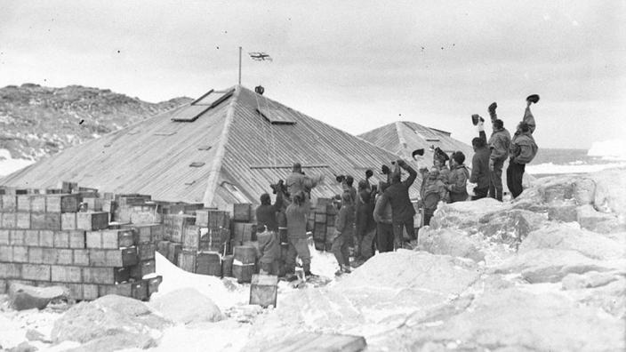 Mawson's Hut at Cape Denison in the early 1910