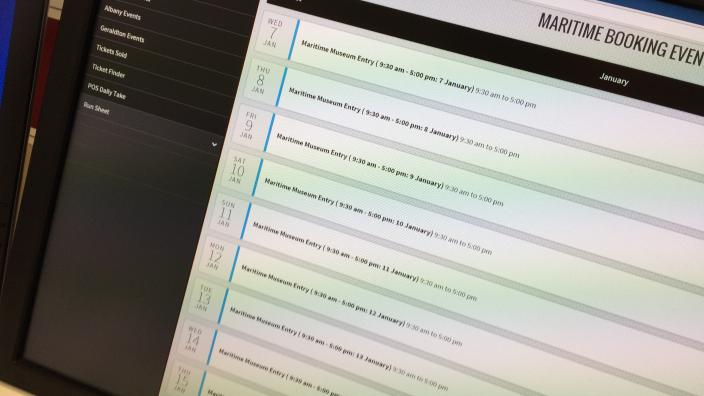 Screen grab of the WAM Tickets system