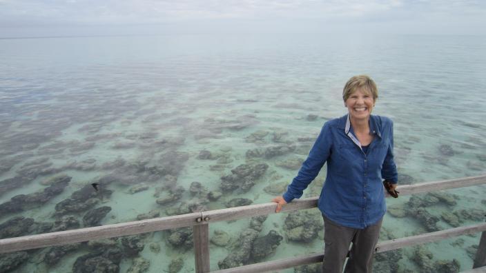 Professor Beazley at Shark Bay