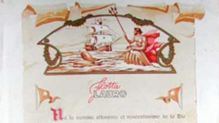 A close up of a certificate given to people who cross the equator on sea voyages