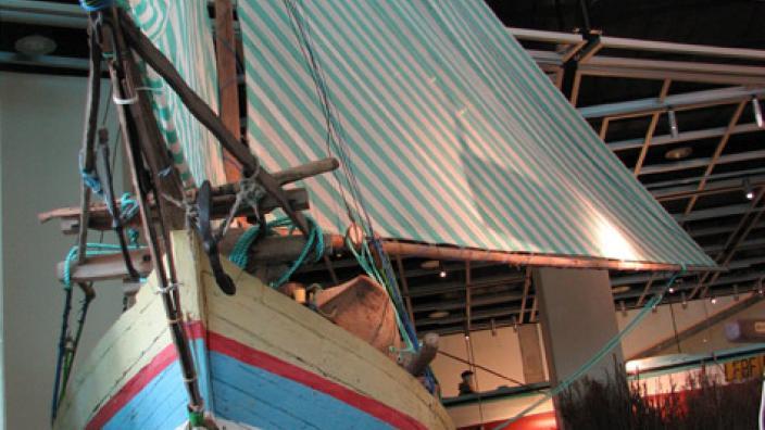 The Sama Biasa vessel on display at the WA Maritime Museum