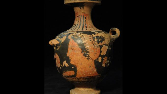 A painted Roman water jar