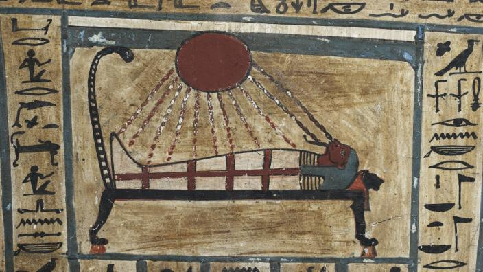 An Ancient Egyptian scroll depicting a scene from the afterlife © The Trustees of the British Museum