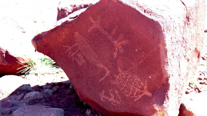 Aboriginal rock art painting
