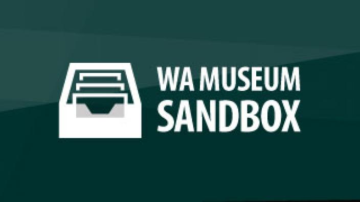 The WA Museum Sandbox logo Image copyright of WA Museum