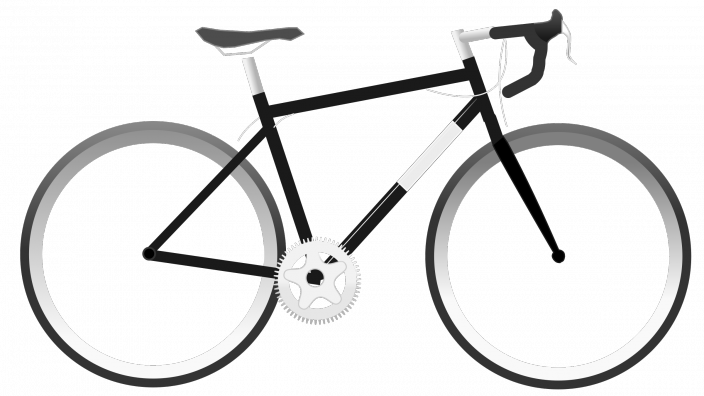 Drawing of road cycle