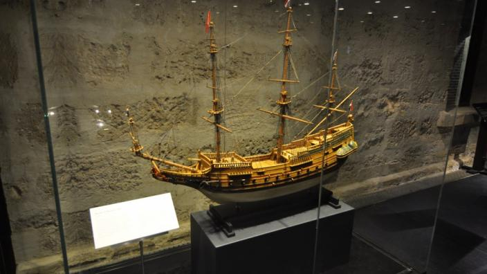 Batavia ship's model - featured in an article on the Culture WA online portal.