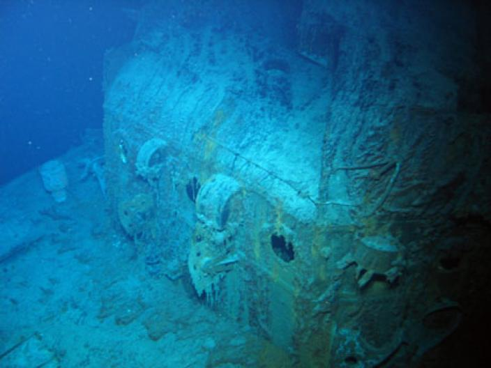 Underwater photograph of the sunken HMAS Sydney (II)