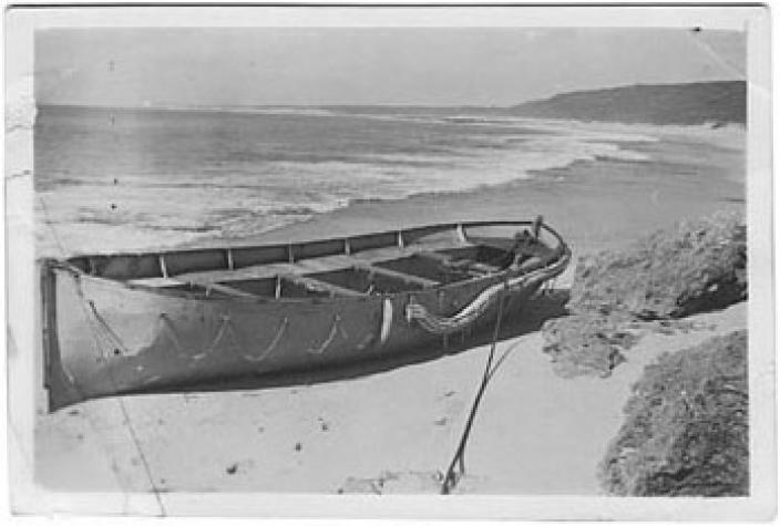 German lifeboat ashore