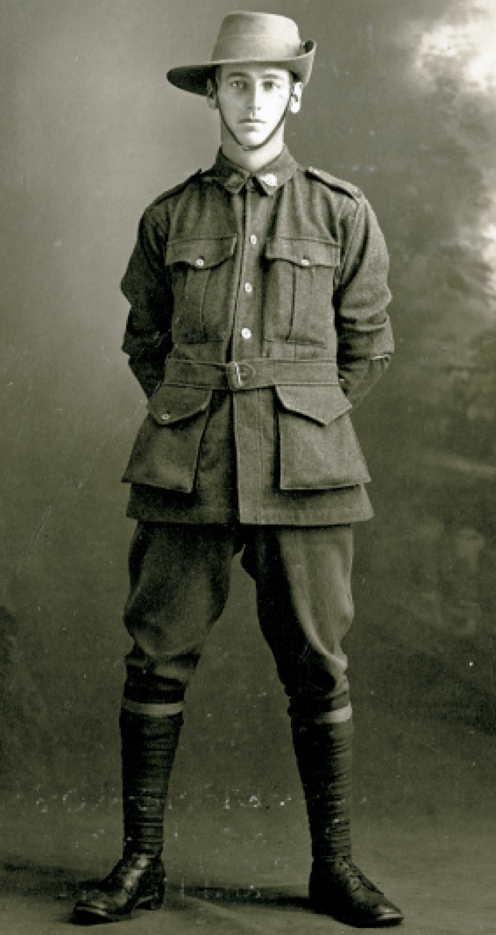 Portrait photo of Australian solider Alfred Baldock