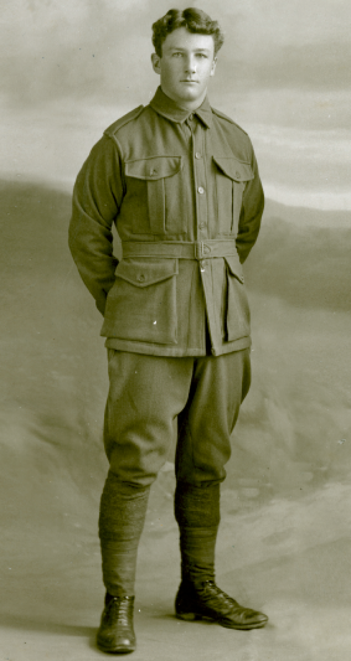 Portrait photo of Australian solider Archie-Ritchie