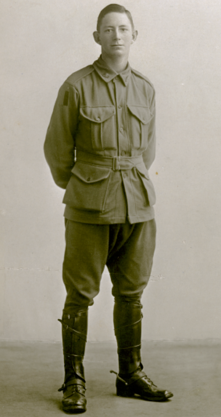 Portrait photo of Australian solider Joe Jackson