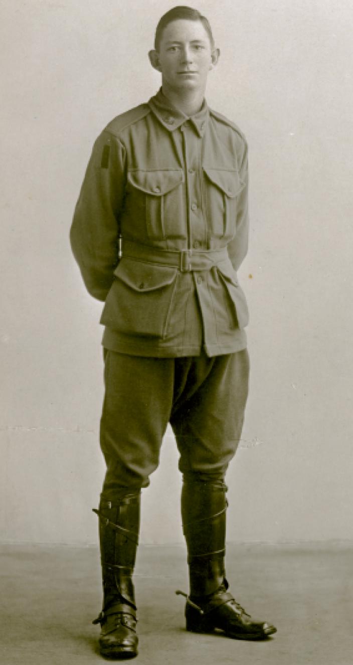 Portrait photo of Australian solider Joe Jackson