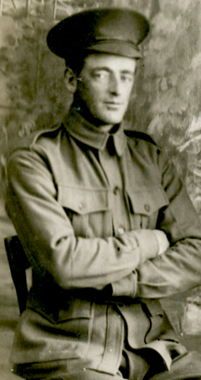 Portrait photo of Australian solider John Bonney