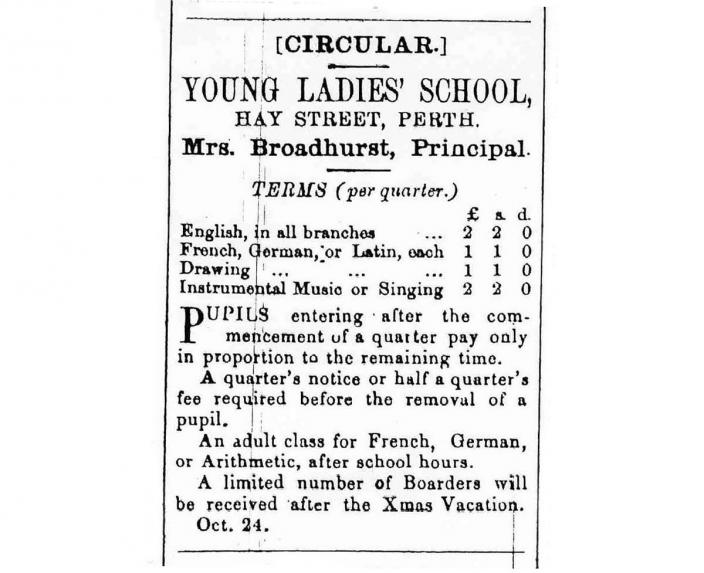 Extract of a printed copy of a newspaper advertisement