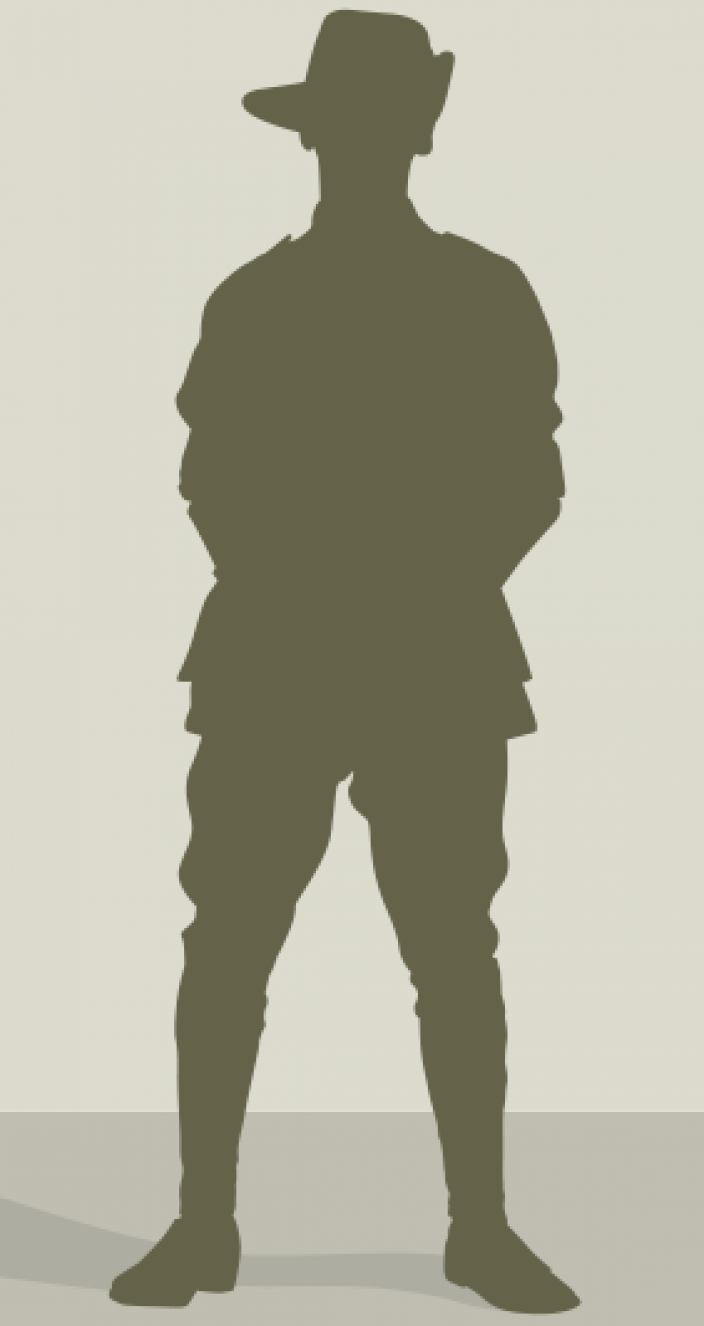 Silhouette of an Australian soldier